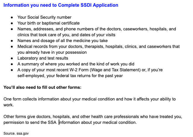 """Information you need to apply for SSDI Online and in person"""