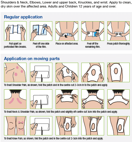 Salonpas - How to apply