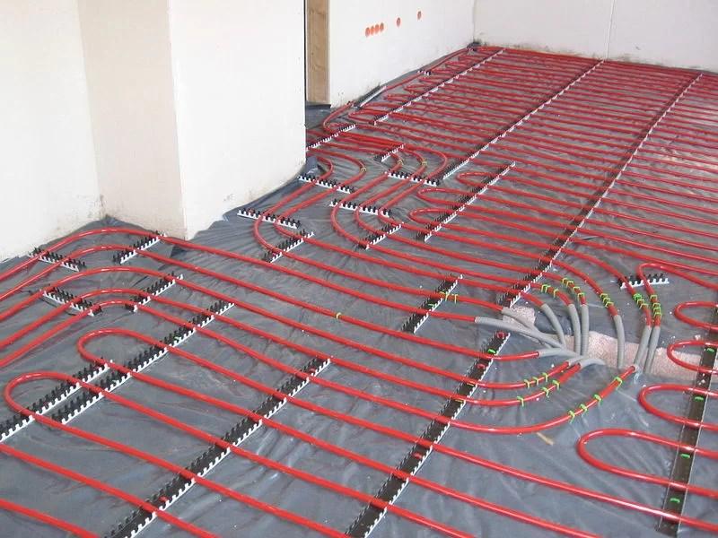 Commercial Underfloor Heating pipes