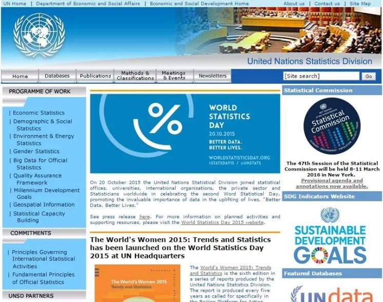 U.N STATISTICS DIVISION