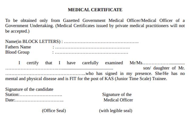 Kerala PSC KAS Notification