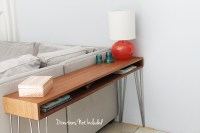 a diy midcentury console table - directions not included
