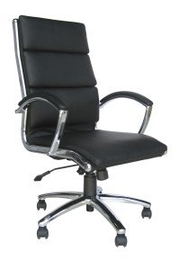 Classic Leather High Back Office Chair - Choice of Colours