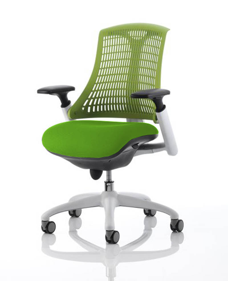 Flex Chairs Flex Office Chair With Green Back