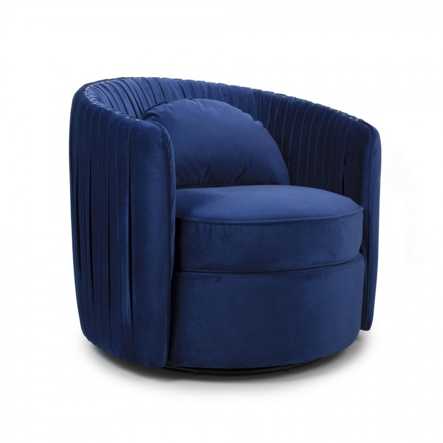 Swivel Tub Chair Swivel Ball Tub Chair Indigo Blue
