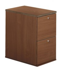 2 Drawer Wooden Filing Cabinet