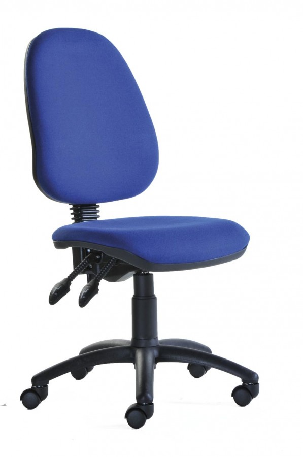Blue Computer Chair 2 Lever