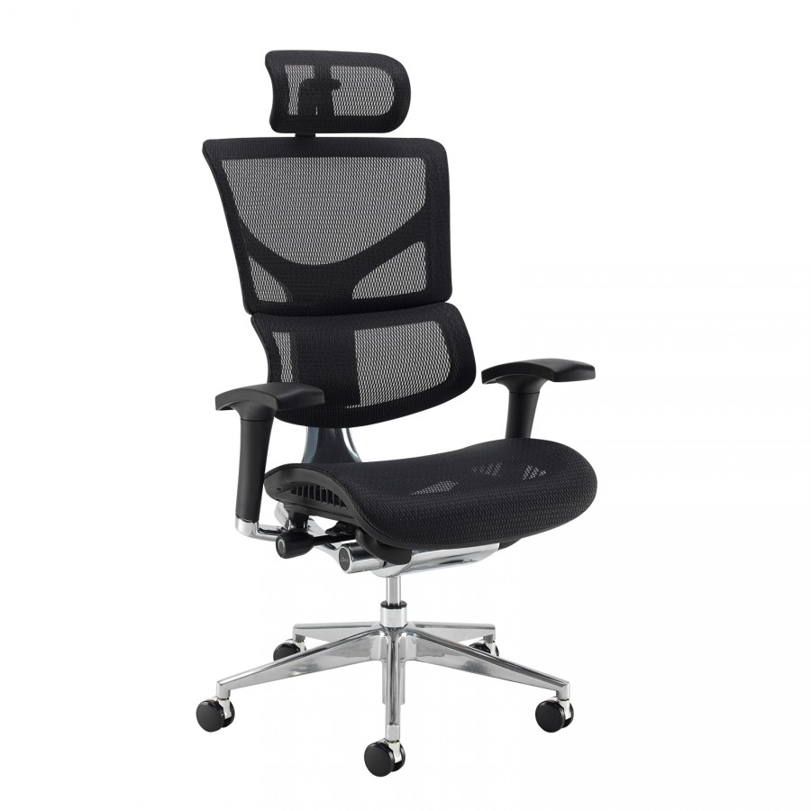 24 Hour Office Chairs Dynamo Ergo 24 Hour Mesh Chair With Headrest