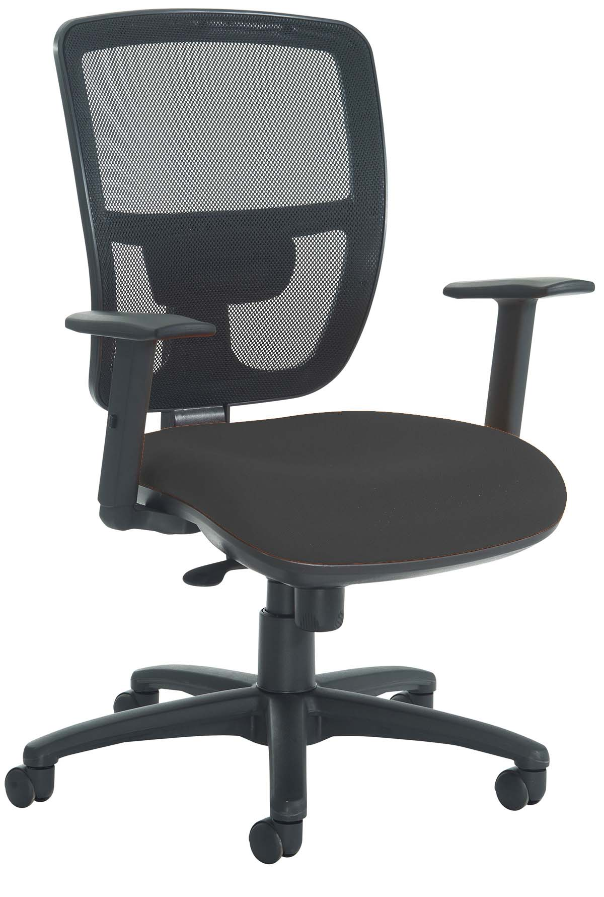 Office Chair With Arms Pocco Mesh Office Chair With Adjustable Arms