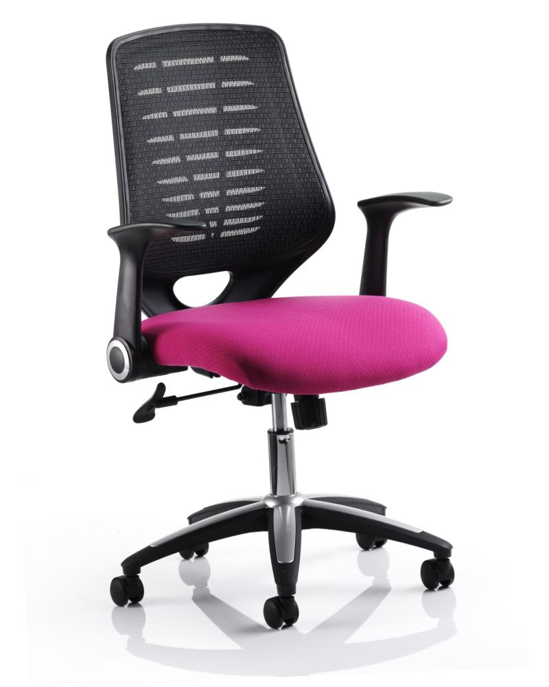 Pink Office Chairs Relay Mesh Office Chair With Pink Seat