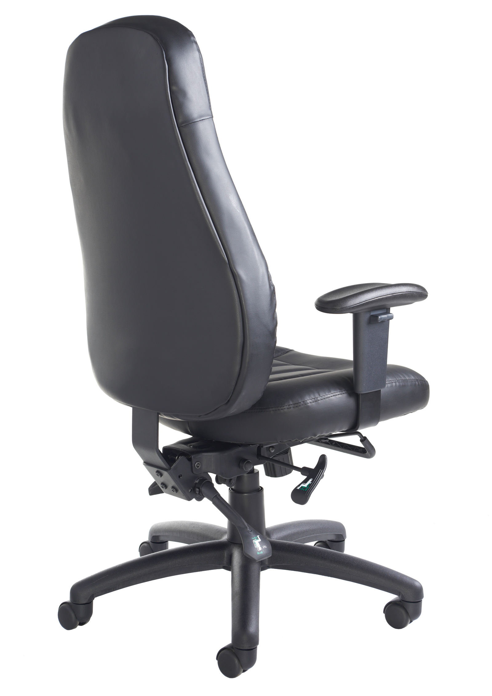 24 Hour Office Chairs Zeus Leather Office Chair 24 Hour Use Chair