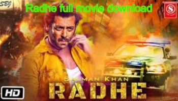 Radhe full movie download HD