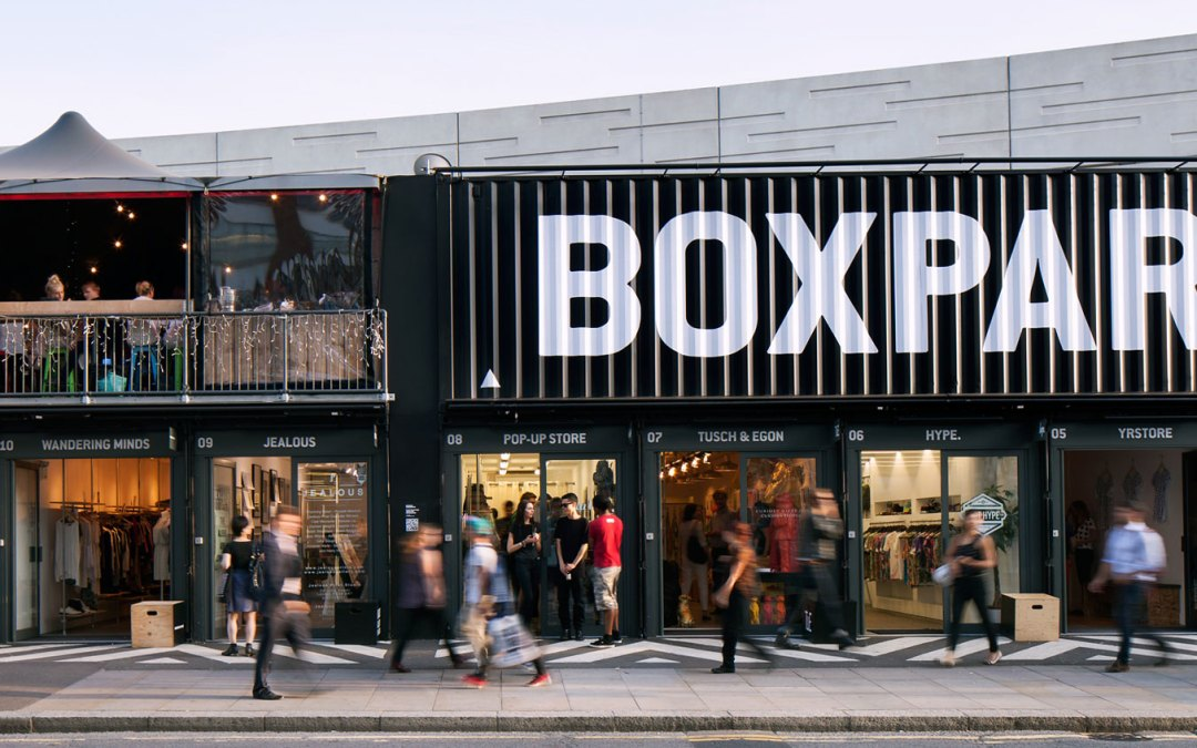 BoxPark, un centro comercial pop-up en el barrio más cool de Londres