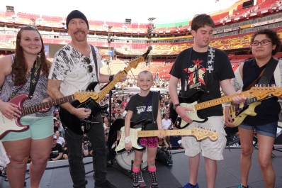 Onstage with The Edge