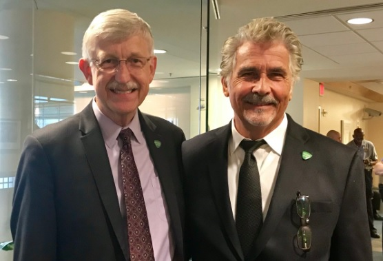 Francis Collins and James Brolin