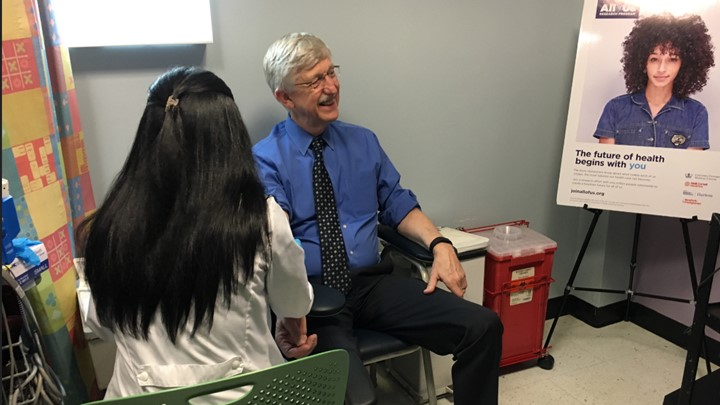 Francis Collins enrolling in All of Us Research Program
