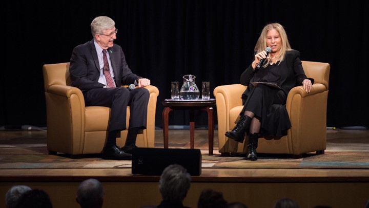 Francis Collins and Barbra Streisand