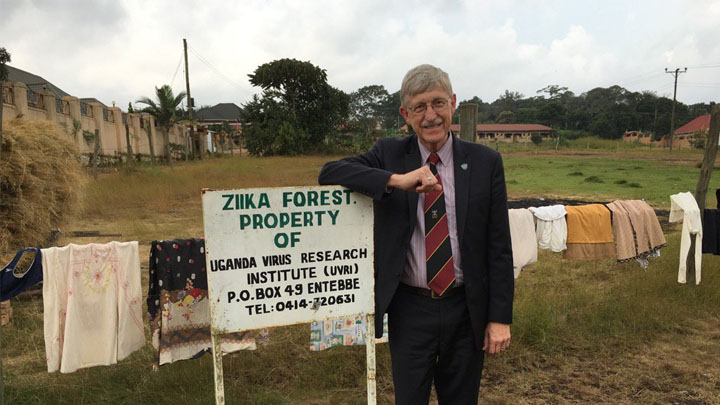 Francis Collins visits Ziika Forest