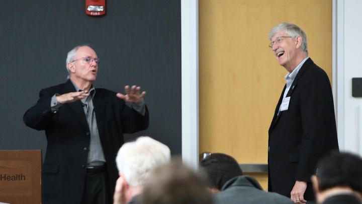 Francis Collins and Craig Mundie at NIH AI Workshop