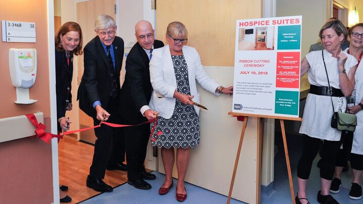 Cutting the Ribbon on the NIH Clinical Center's Hospice Suites