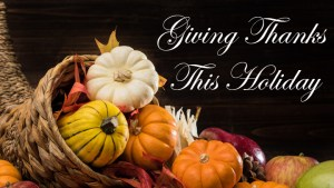 Giving Thanks This Holiday