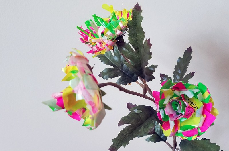Multi-colored artificial flowers