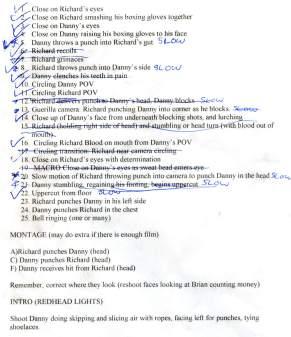 Shot List Day 4