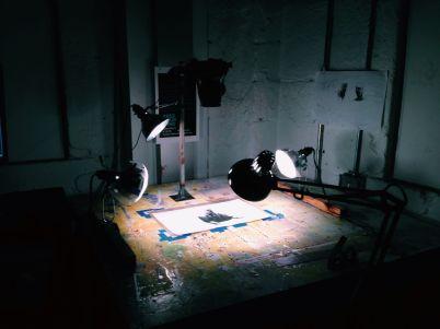 DIY set-up for shooting in frames.