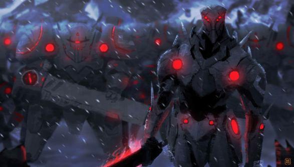 Jin and Robots - GG concept art