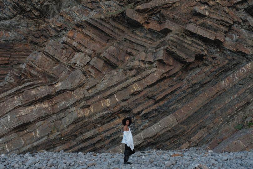 Sakeema at Logan Rock, Cornwall
