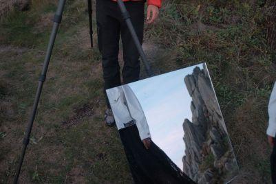 Sakeema & Camera Op Lucas Aliaga-Hurt at Logan Rock, Cornwall