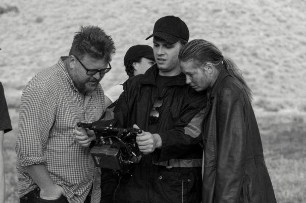 (r-l) Actress Ksenia Dubovitz Duboviskaia, Director Gianluca Minucci, DP Jeremy Kerr.