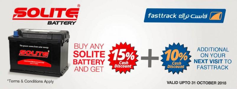 Offre batterie Solite sur Fasttrack