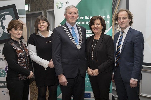 Sinead Carr, Director of Services, Tipperary Co Co , Councillor Mary Hanna. Hourigan, Councillor Roger Kennedy, Leas Cathaoirleach, Tipperary Co Co., Rita Guinan, Head of Enterprise, TCC and Councillor John Hogan, Chairman ETB.