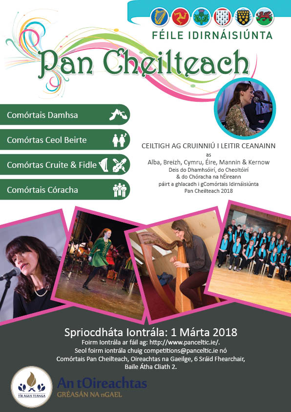 Call for Irish Dancers, Musicians and Choirs to participate in the International Pan Celtic Festival Competitions 2018
