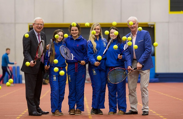 LIT Thurles Tennis Announcement. Pictured are, Prof. Vincent Cunnane, President LIT students, Jordan Ferncombe, Kate Williams, Emily Murphy and Katelyn Ruddy with John McNally, Thurles Tennis Club. Picture: Alan Place