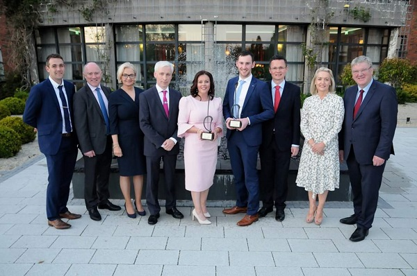 James O'Brien, Reel Time Rivers Ltd., Finalist in the Best Business Idea category, Pat Slattery, Director of Community & Economic Development, Tipperary County Council, Madeline Ryan, LEO, Joe MacGrath, Chief Executive, Tipperary County Council, Mary Ryan, Senior Enterprise Development Office, Local Enterprise Office receiving award on behalf of Sharon Cunningham, Shorla Pharma Regional Winner in Best Start-up Business, Cathal Bourke, Bourke Sports Regional Winner of Best Established Business, Patrick O'Donovan, Minister of State at the Department of Finance and the Department of Public Expenditure and Reform, Margaret O'Connor, MD, Quigleys Bakery & Cafe, Pat McDonagh, CEO of Supermacs