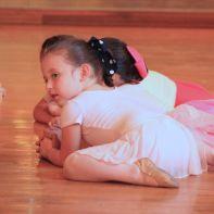 A budding ballerina cools down