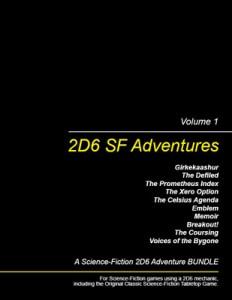 2D6 SF Adventures, Vol. 1