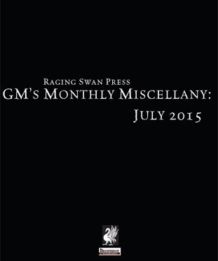 Free Role Playing Game Supplement Review: GM's Monthly Miscellany: July 2015