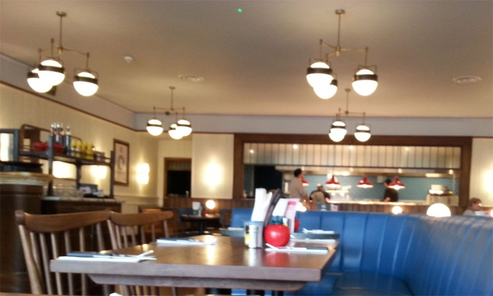 Inside the Gourmet Burger Kitchen in Beverley