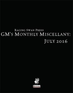 GM's Monthly Miscellany: July 2016