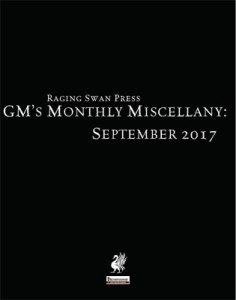 GM's Monthly Miscellany: September 2017