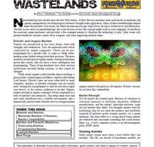 Wisdom from the Wastelands Issue #28: Nanotechnology I
