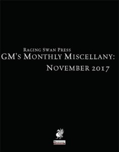 GM's Monthly Miscellany: November 2017