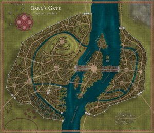 The Lost Lands: Bard's Gate for Fifth Edition Map