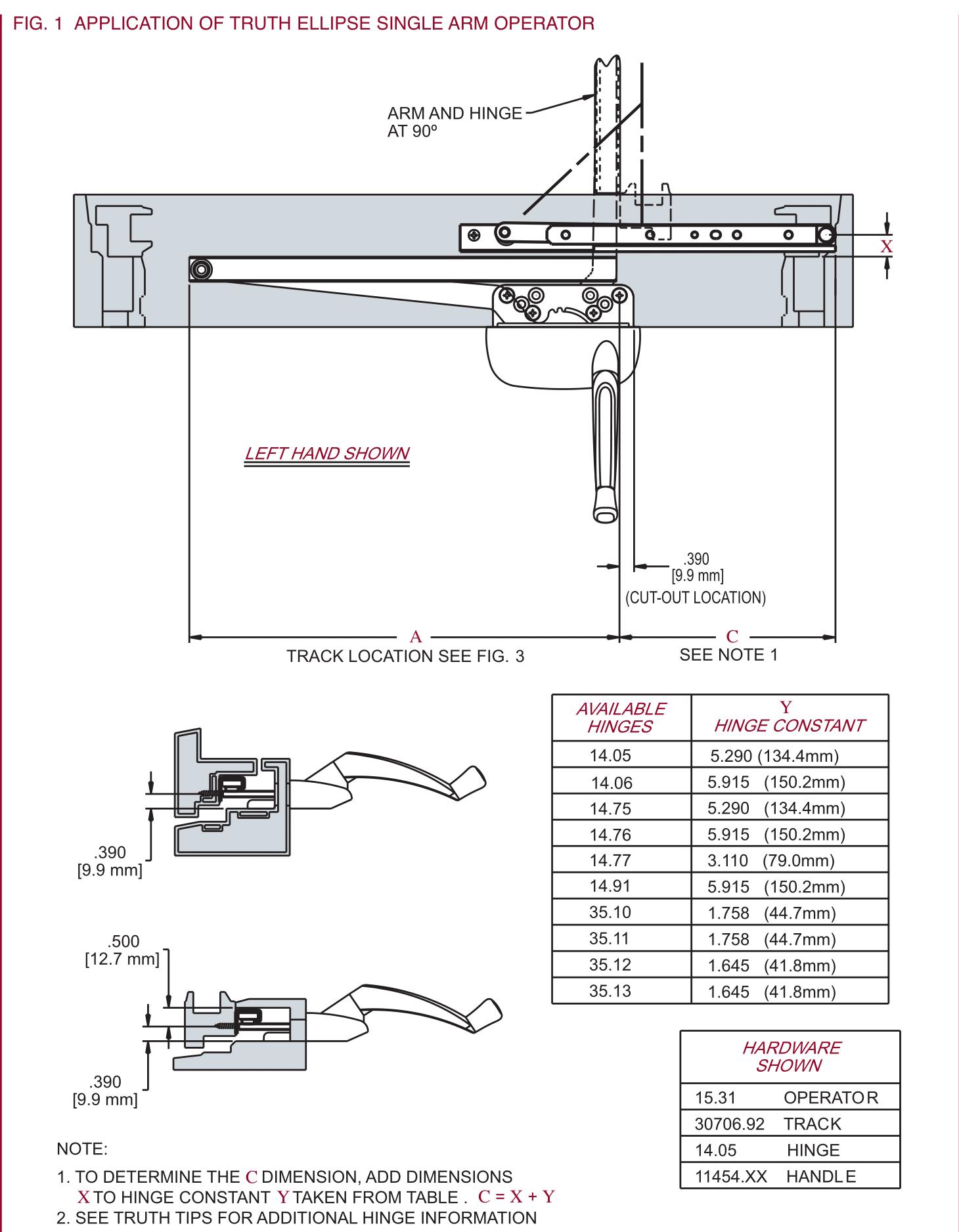 Single Arm Casement Operator 13 1 2 Roller Nylon Truth