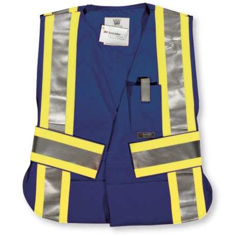 navy fr hi vis tear away vest