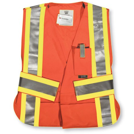 big k orange hi vis tear away vest