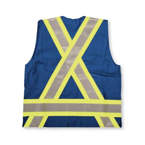 blue fire retardant surveyors vest